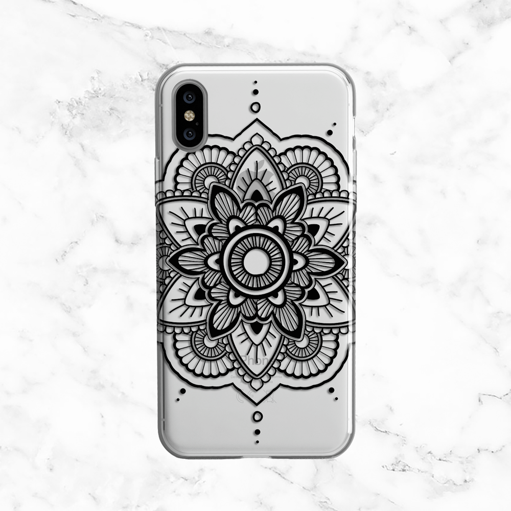 Black Henna Mandala Phone Case