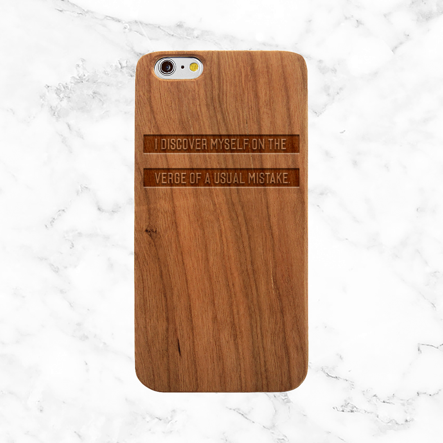 Walt Whitman Self Discovery Quote - iPhone and Galaxy Wood Phone Case