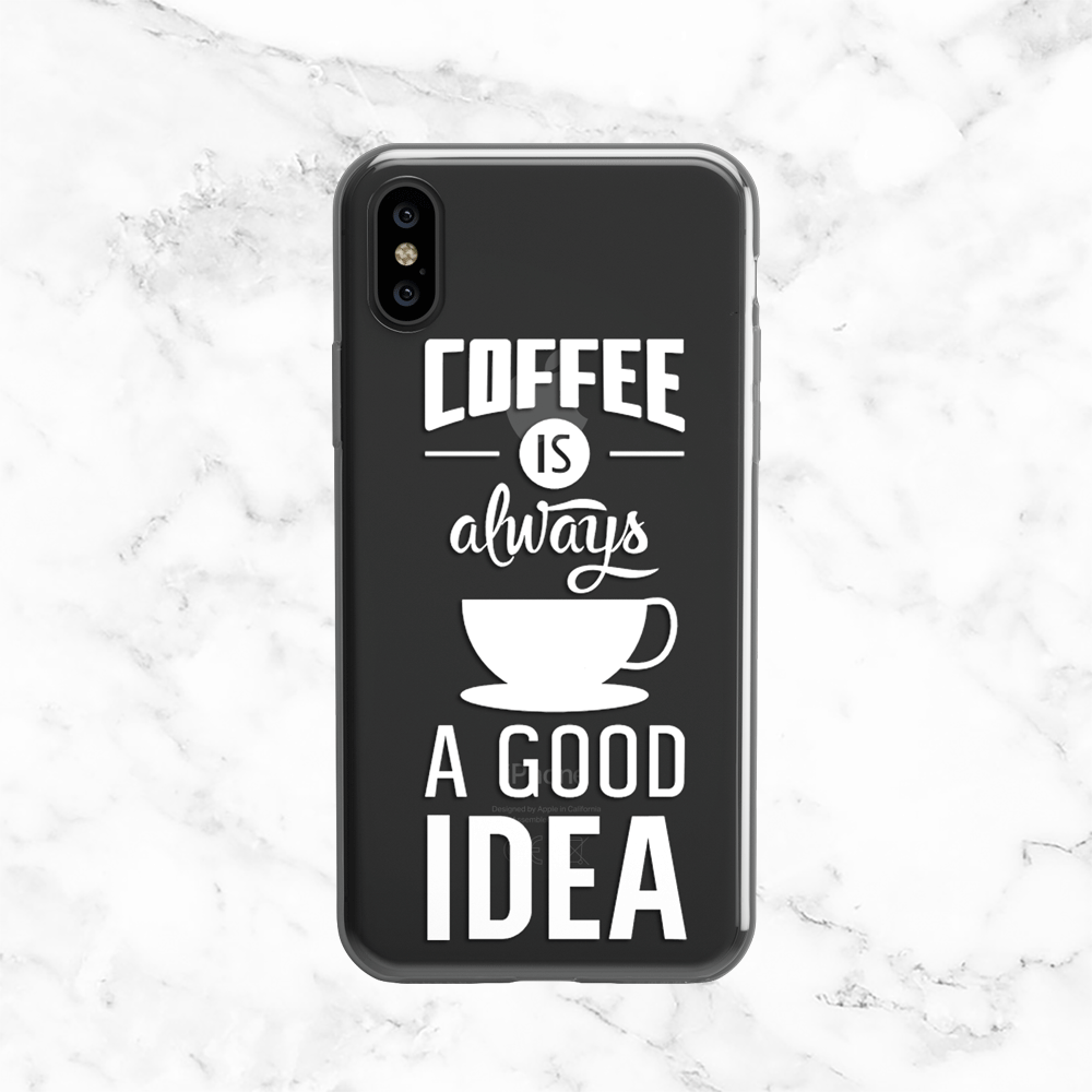Coffee Quote - Clear TPU Case