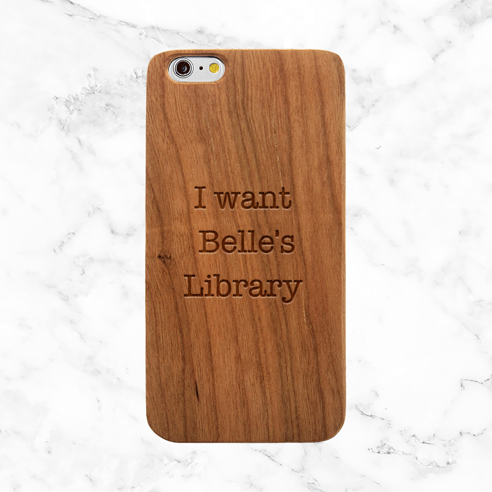 Belle's Library Wood Phone Case