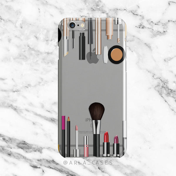 Makeup Kit on Clear Printed iPhone Case