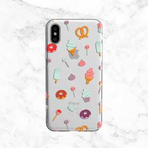 Sweet Tooth Snacks - Clear TPU Phone Case Cover