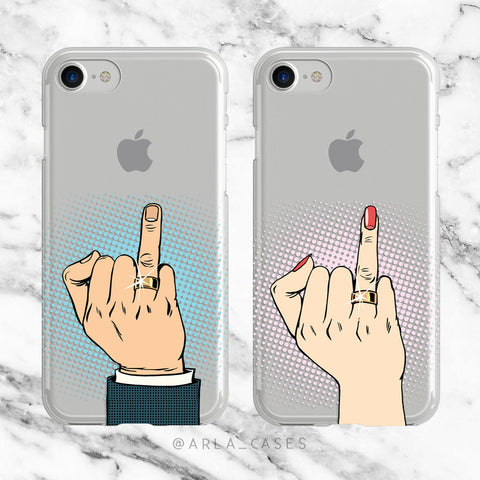 Pop art Newlywed Phone Case Set