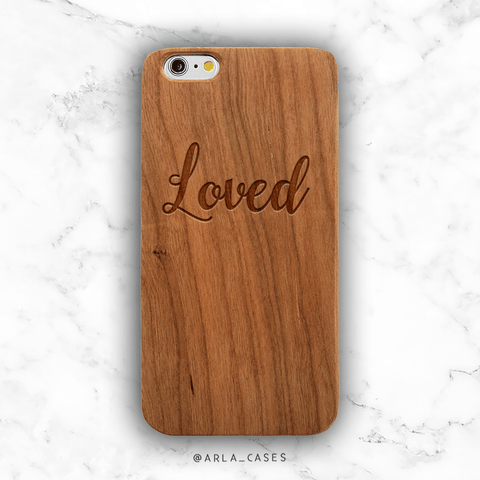 Loved Wood iPhone Case