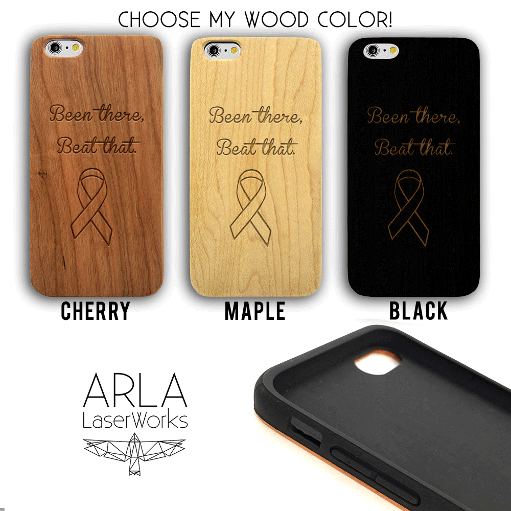 Been There, Beat That - Ribbon Wood Phone Case