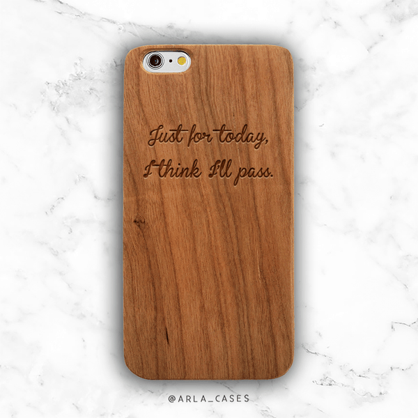 Recovery Strength Quote Wood iPhone Case