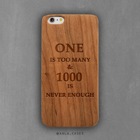 Recovery Motivation Wood iPhone Case