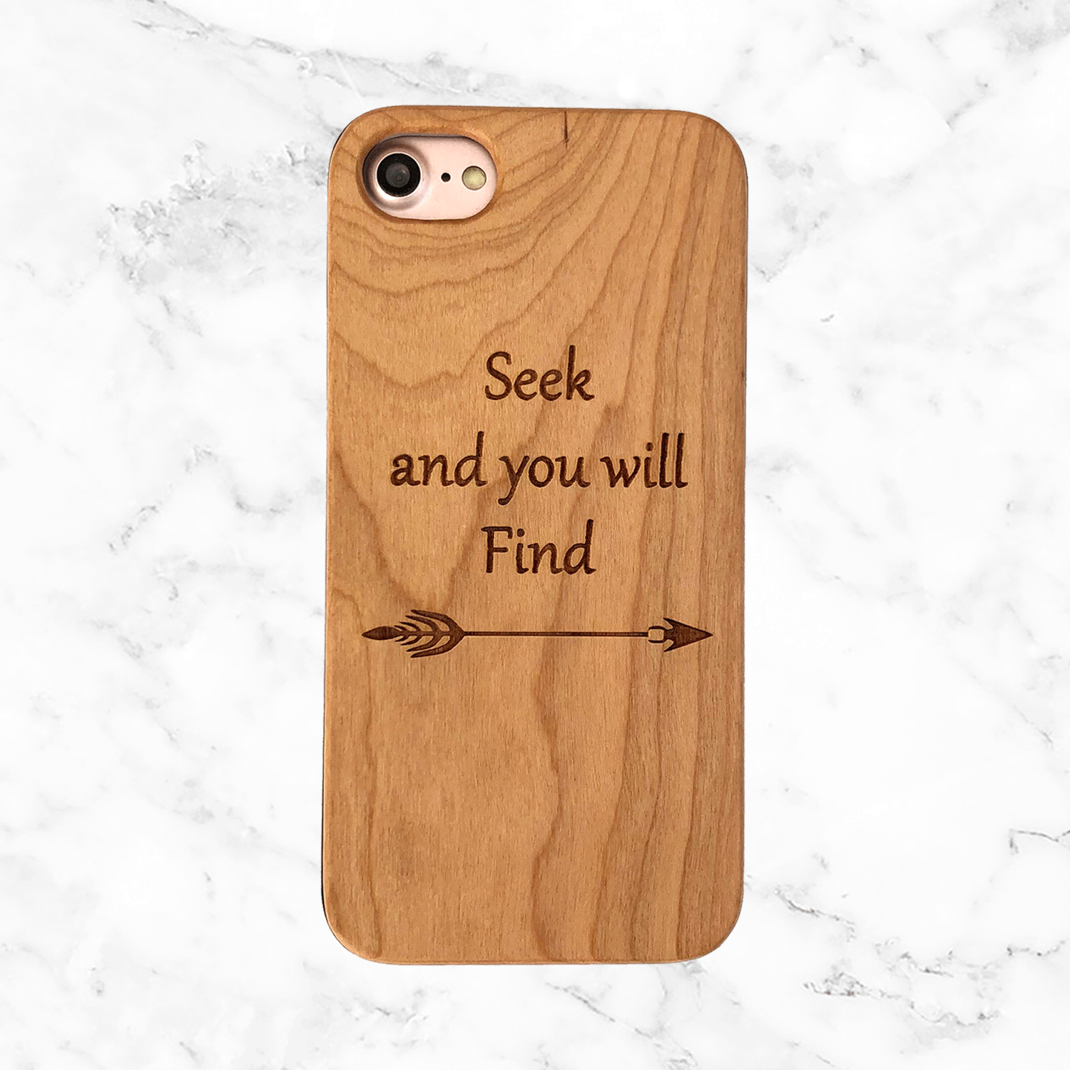 Seek and You Will Find - Wood Phone Case