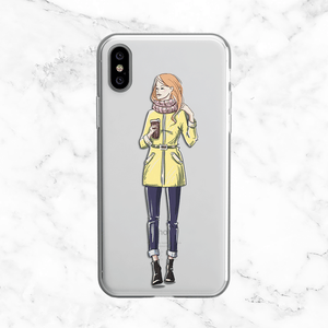Fall Fashion Coffee Girl  - Clear TPU Case