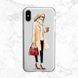 Coffee Chic - Clear TPU Case