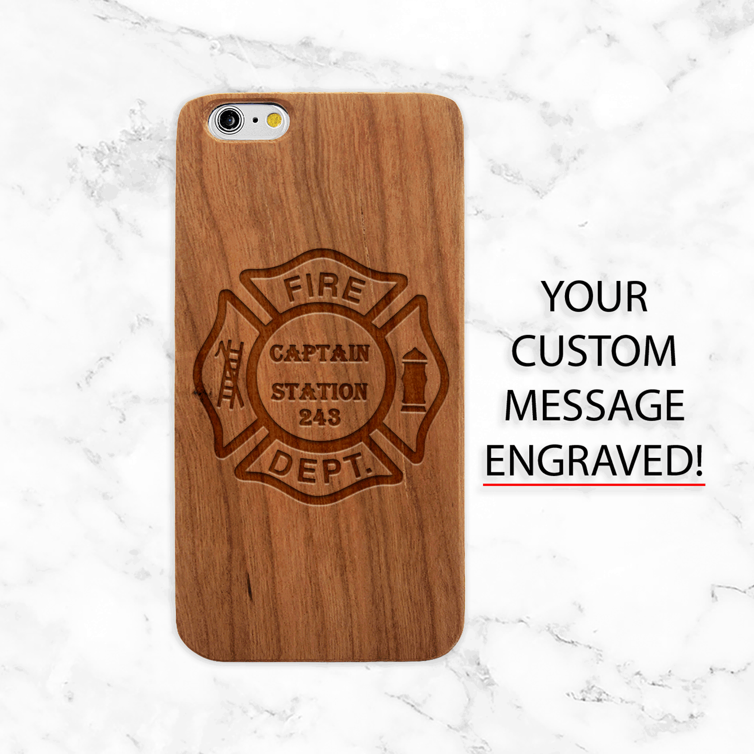 Custom Engraved Firefighter Phone Case