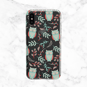 Autumn Owl Pattern Phone Case