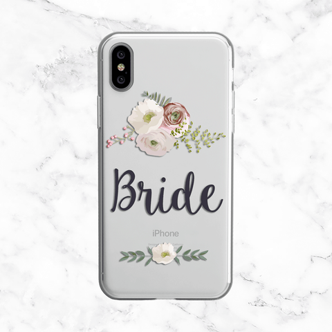 Bride Floral Wedding Phone Case