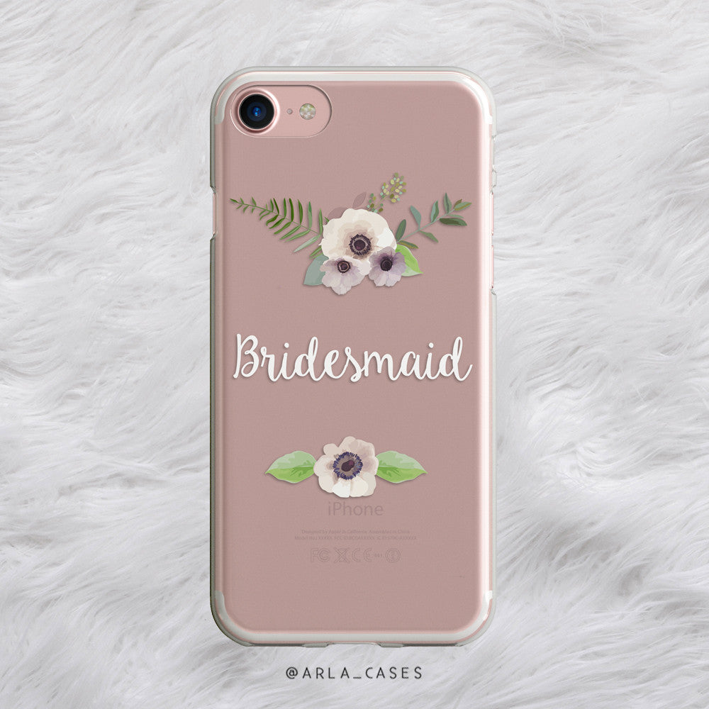 Floral Bridesmaid iPhone Case