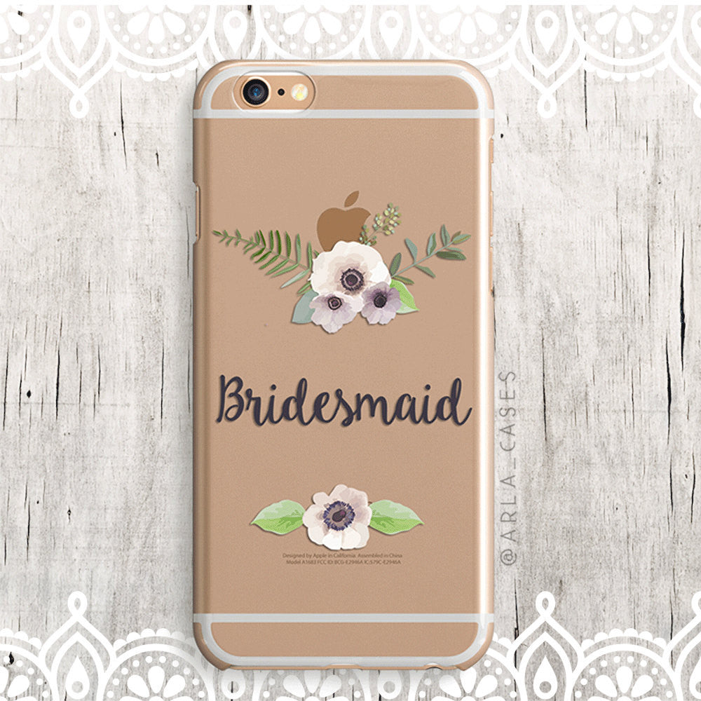Bridesmaid Floral iPhone Case