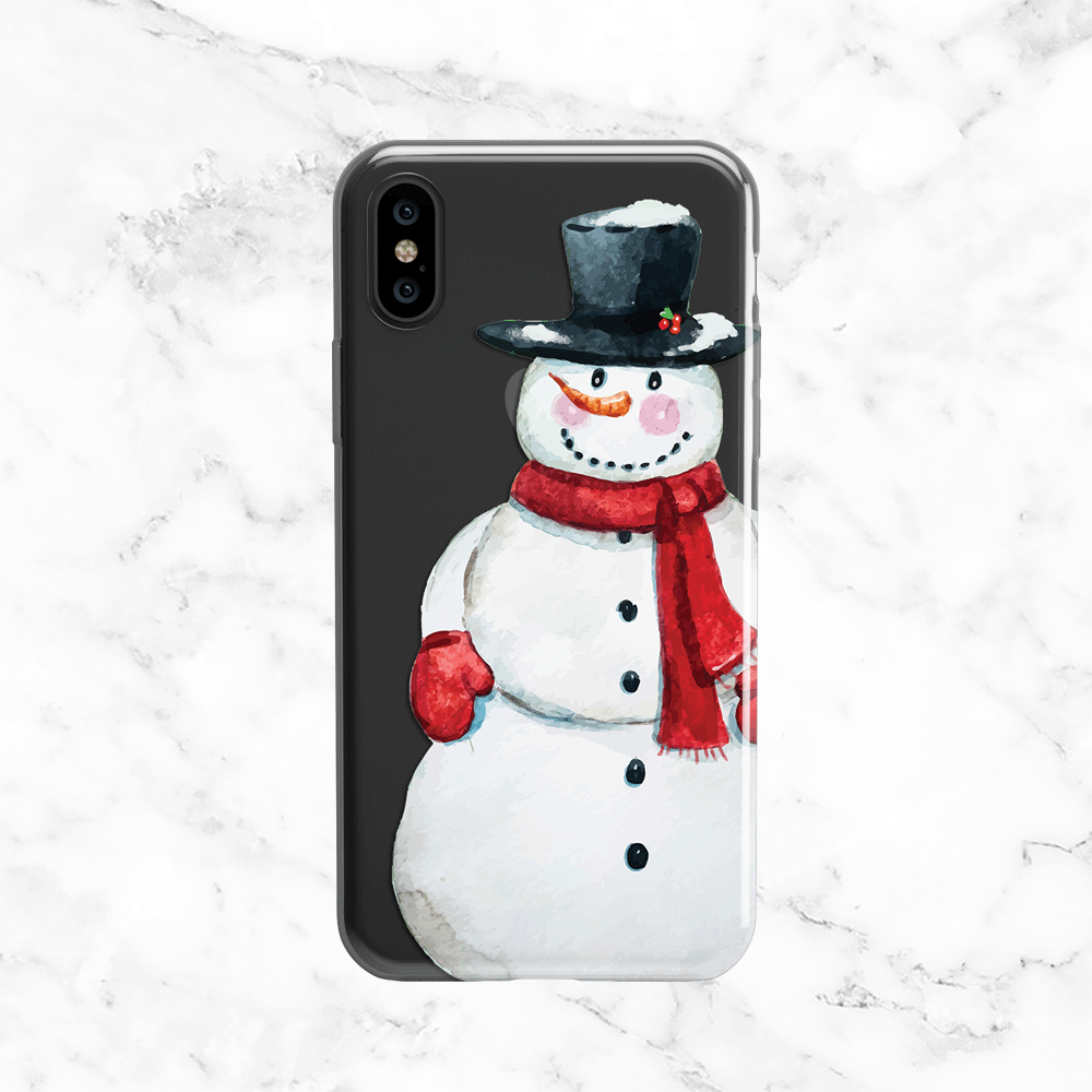 Snowman iPhone X Phone Case