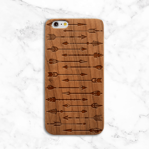 Arrows Wood iPhone Case