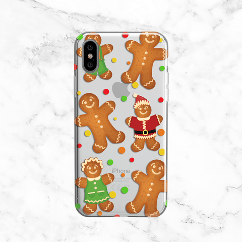 Gingerbread Men iPhone X Phone Case
