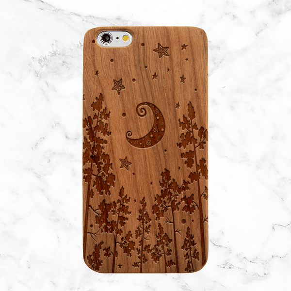 Forest Night Wood Phone Case