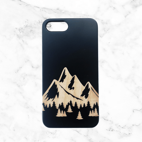 Mountains Wood Phone Case