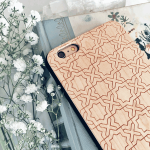 Elegant Tiles Wood Phone Case