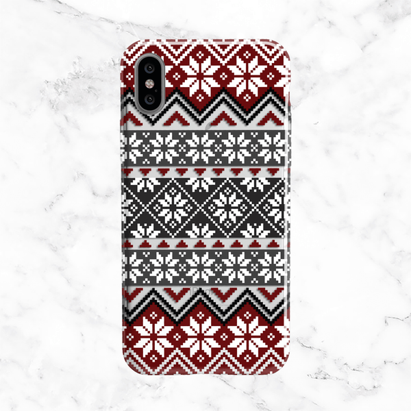 Winter Sweater Phone Case - Clear Printed TPU