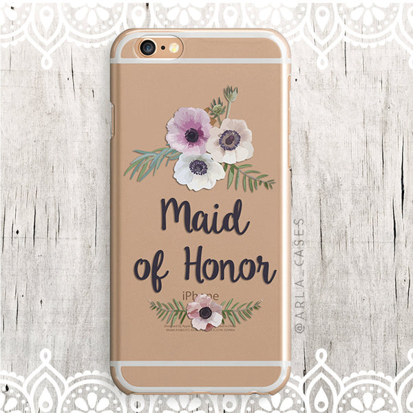 Maid of Honor Floral iPhone Case