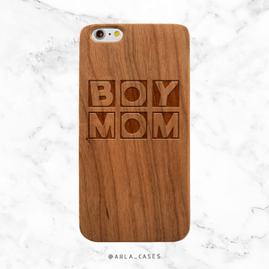 Baby Boy Mom Wood Phone Case