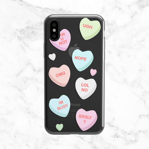 Candy Hearts - Anti-Valentine's Clear Case