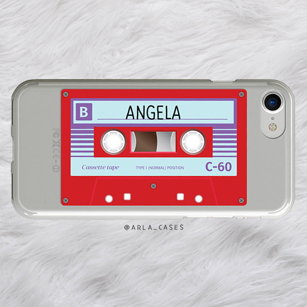 Custom Mix Tape Name iPhone Case