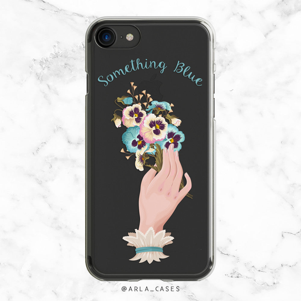 Something Blue Wedding iPhone Case
