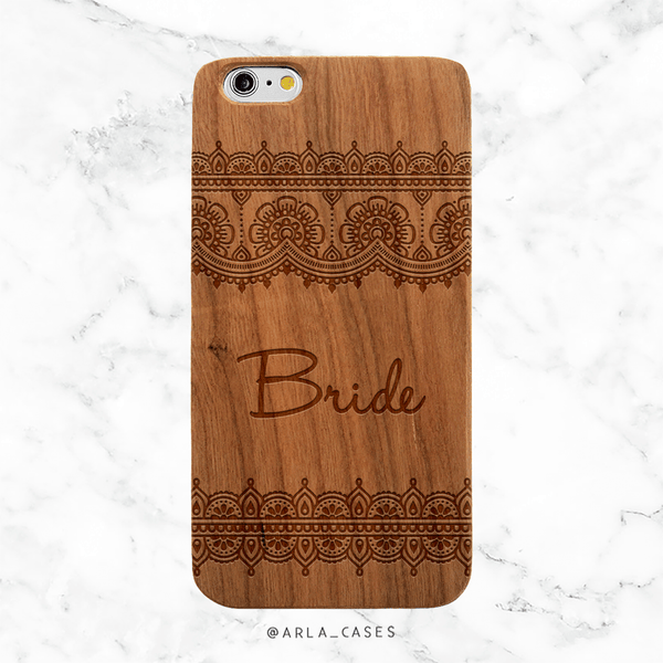 Bride Lace Wedding Wood Phone Case