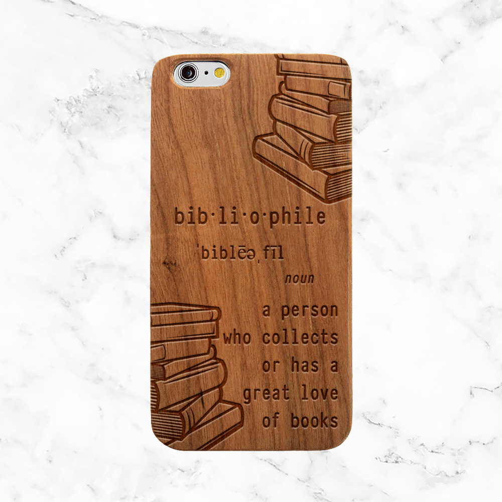Bibliophile Wood Phone Case