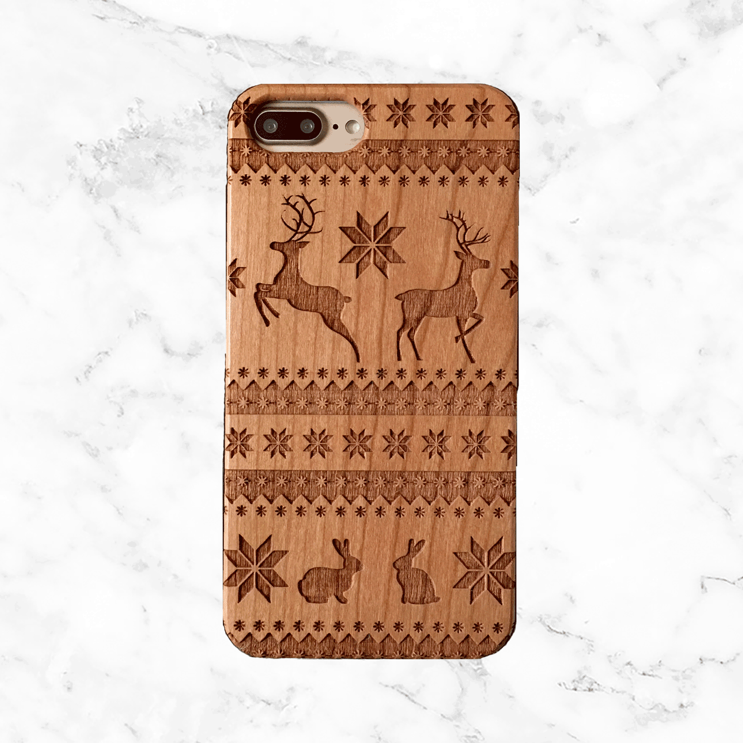 Christmas Sweater Wood Phone Case