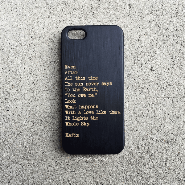 Hafiz Quote Wooden iPhone Case