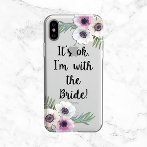 Floral Bridal Party Wedding Phone Case - Clear Printed TPU