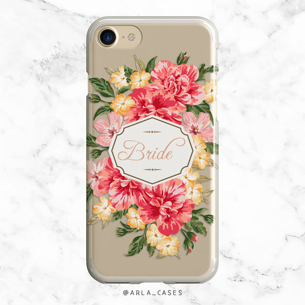 Vintage Floral Bride iPhone Case