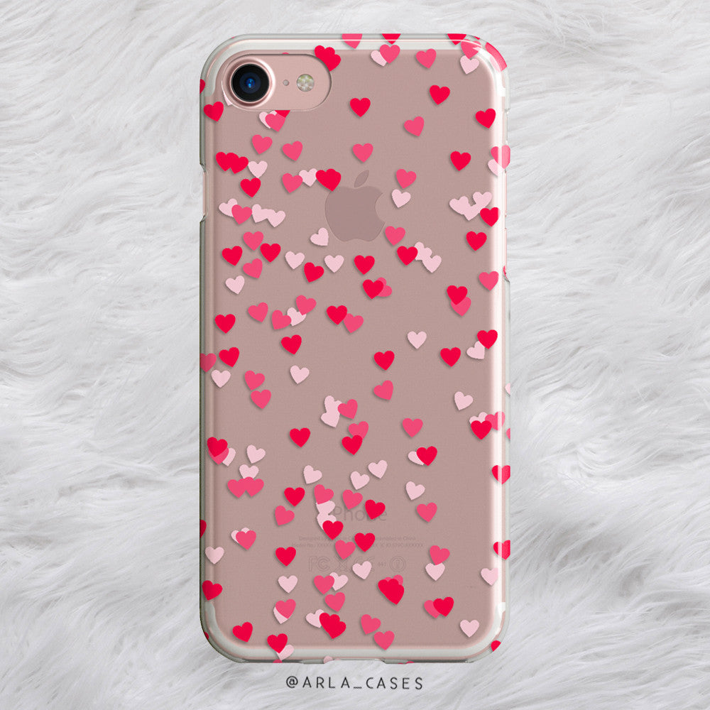 Red and Pink Hearts iPhone Case