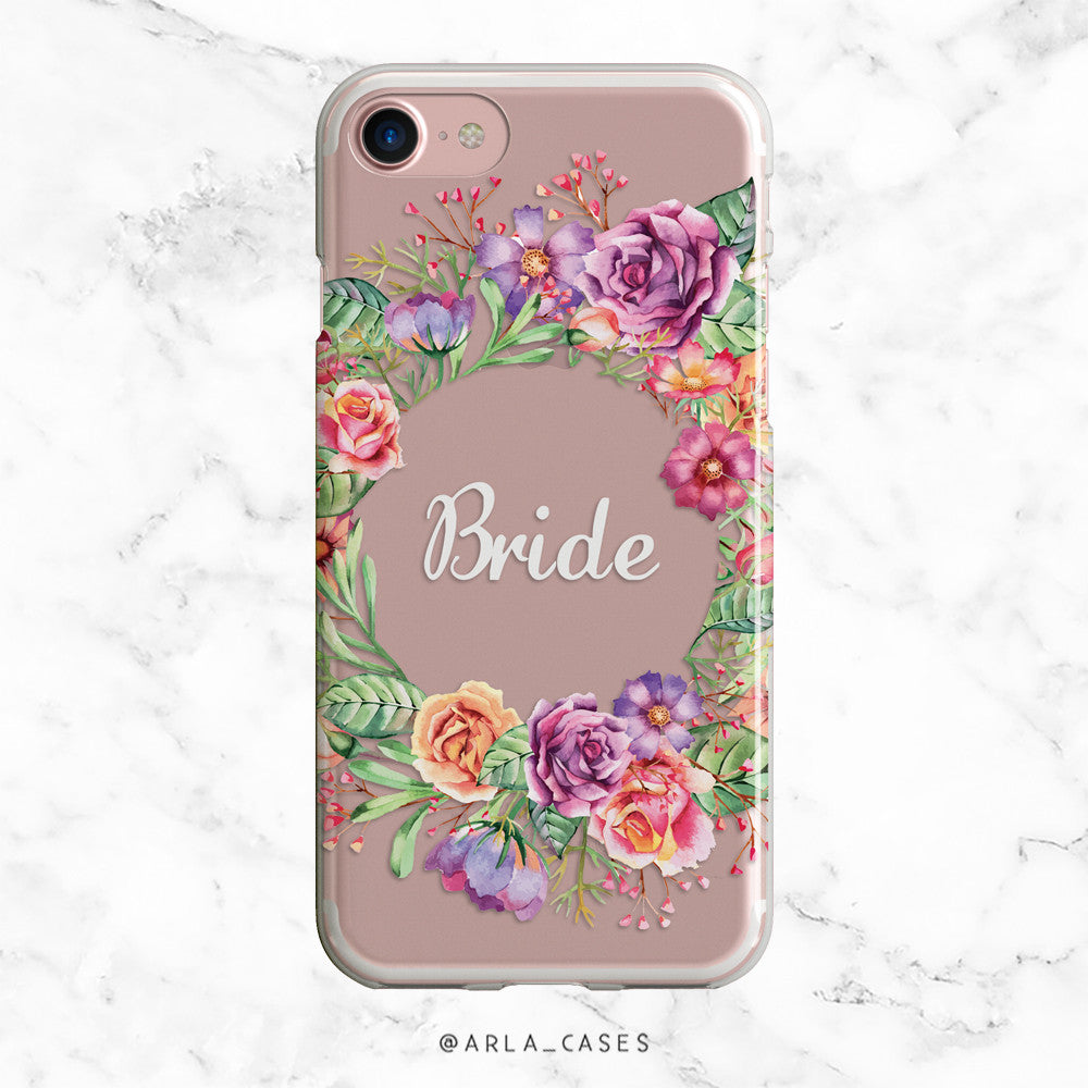 Bride Flower Crown iPhone Case