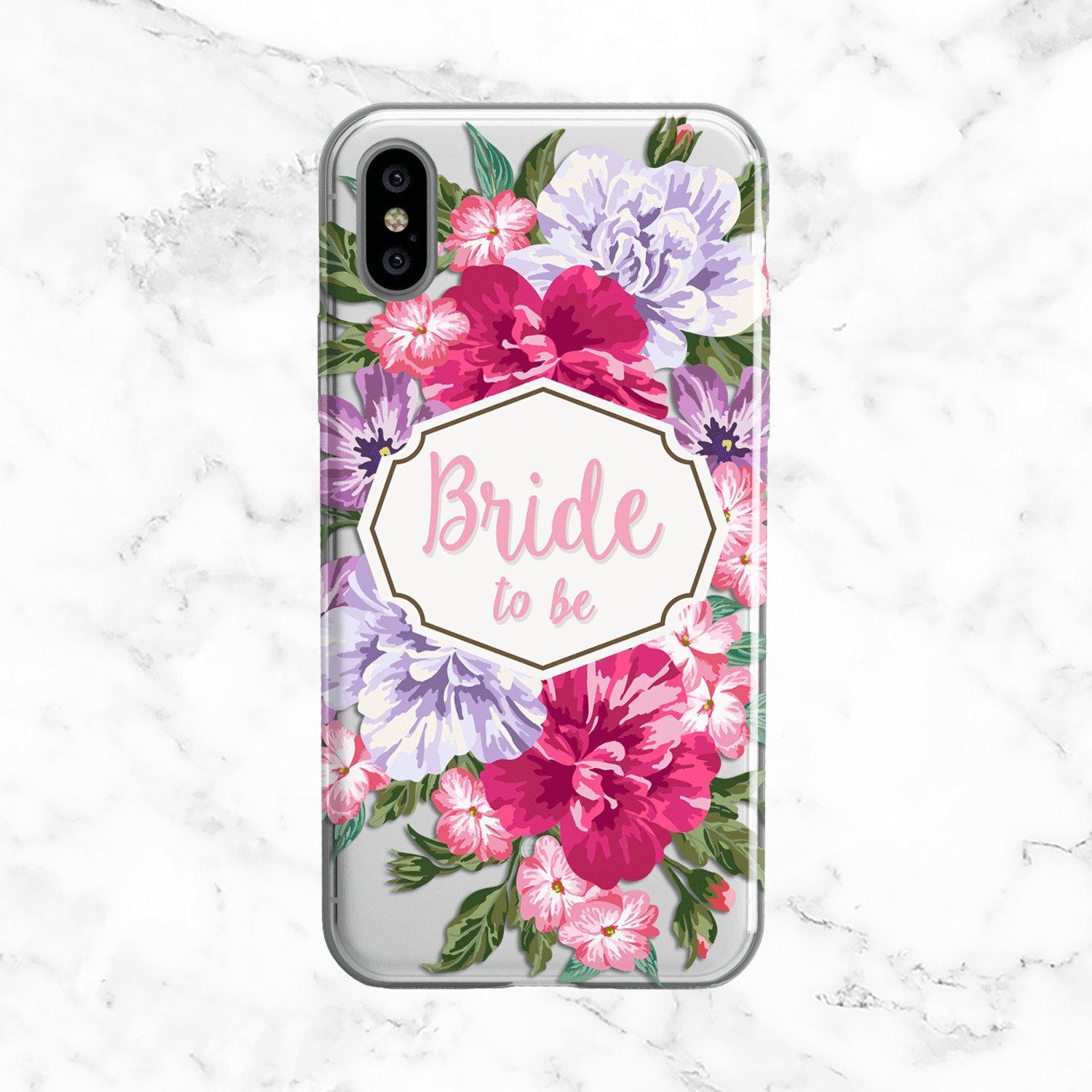 Bride to Be Pink Floral Case