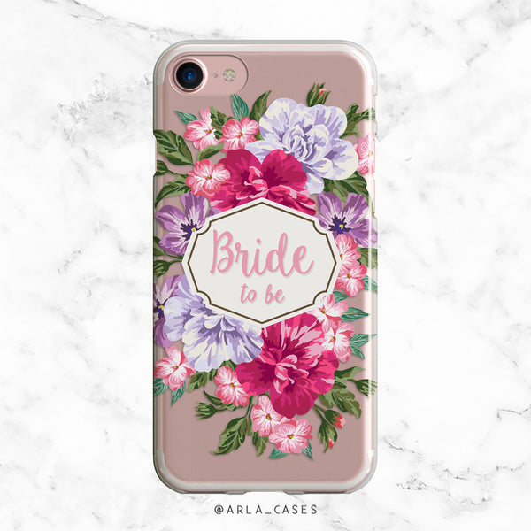 Bride to Be Floral Bouquet iPhone Case