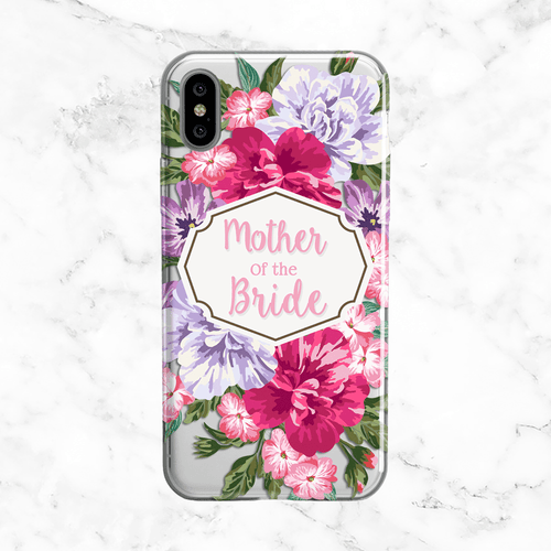 Mother of the Bride Floral Bouquet Wedding Phone Case - Clear Printed TPU
