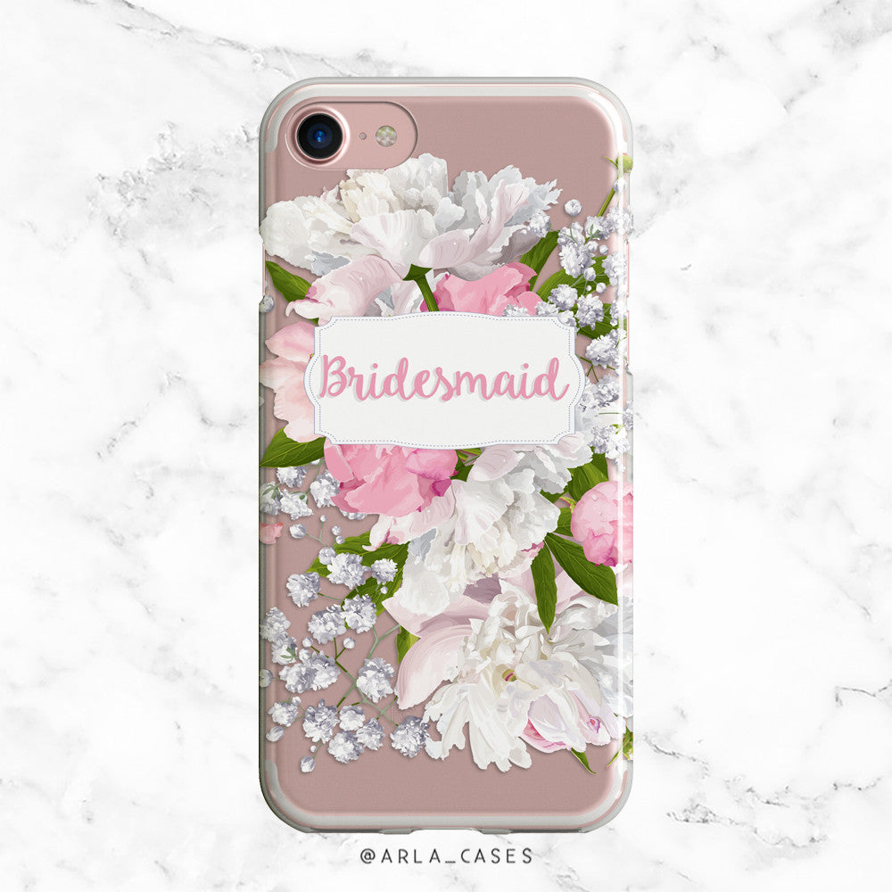 Bridesmaid Peony iPhone Case