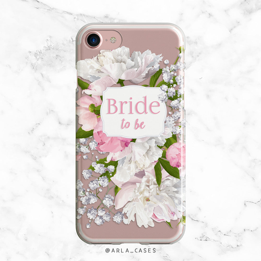 Bride to Be Peony iPhone Case