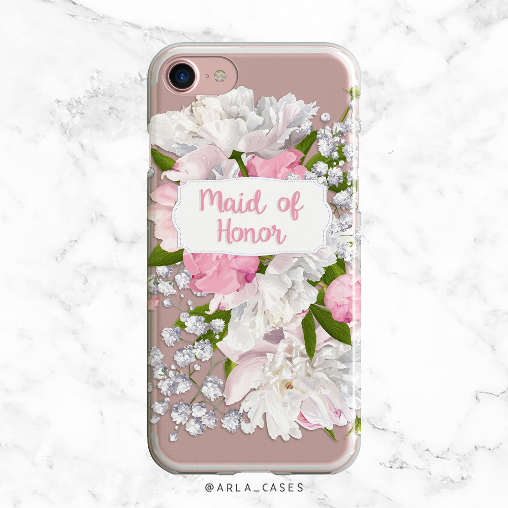 Maid of Honor Peony iPhone Case