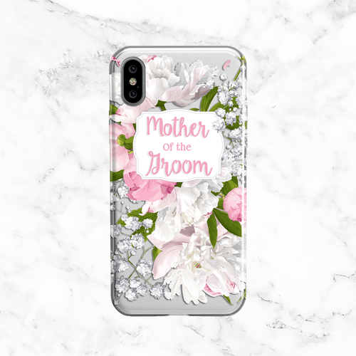 Mother of the Groom Peony Wedding Phone Case - Clear Printed TPU
