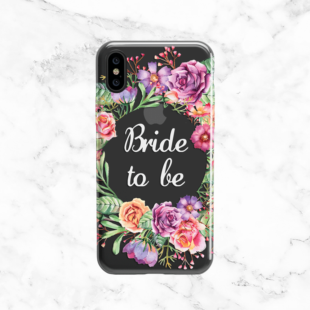 Bride to Be Flower Crown Wedding Phone Case