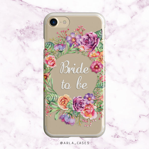 Bride to Be Flower Crown iPhone Case