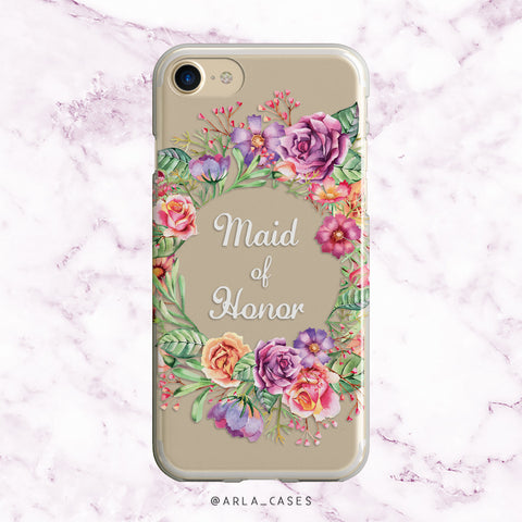Maid of Honor Flower Crown iPhone Case