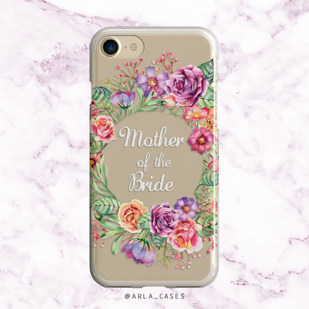 Mother of the Bride Flower Crown iPhone Case